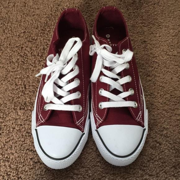 Maroon sneakers (converse lookalike)